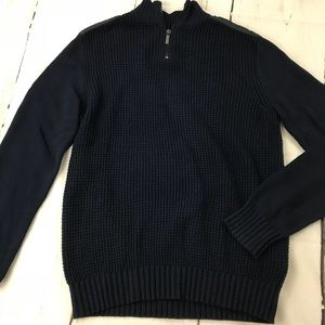 Kenneth Cole Knitted Quarter Zip Might Sweater